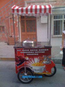 Bardakta mısır Arabası Artık Azerbaycan'da